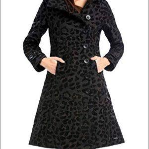 Desigual black acid dream coat size 44